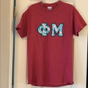 Phi Mu Greek letters shirt